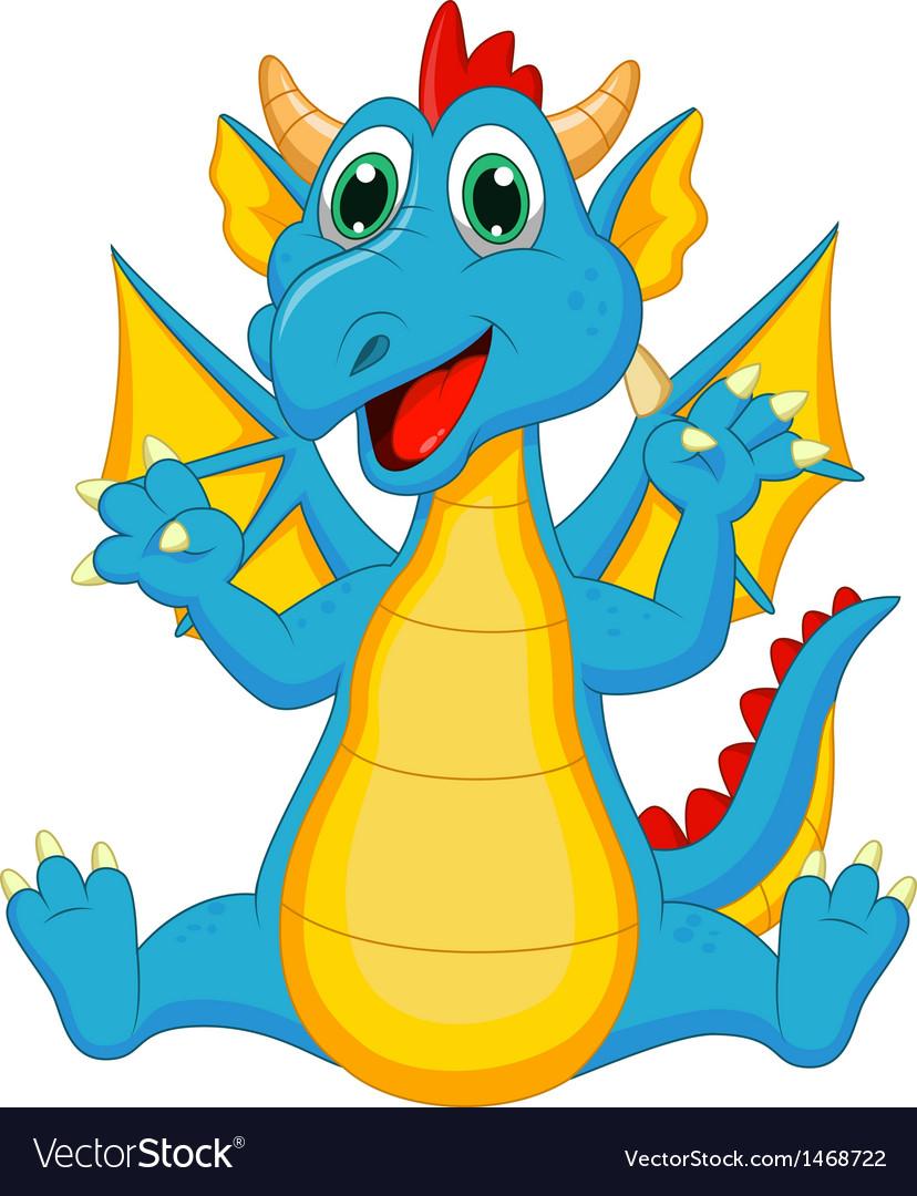 Cute dragon cartoon vector   Price: 1 Credit (USD $1)