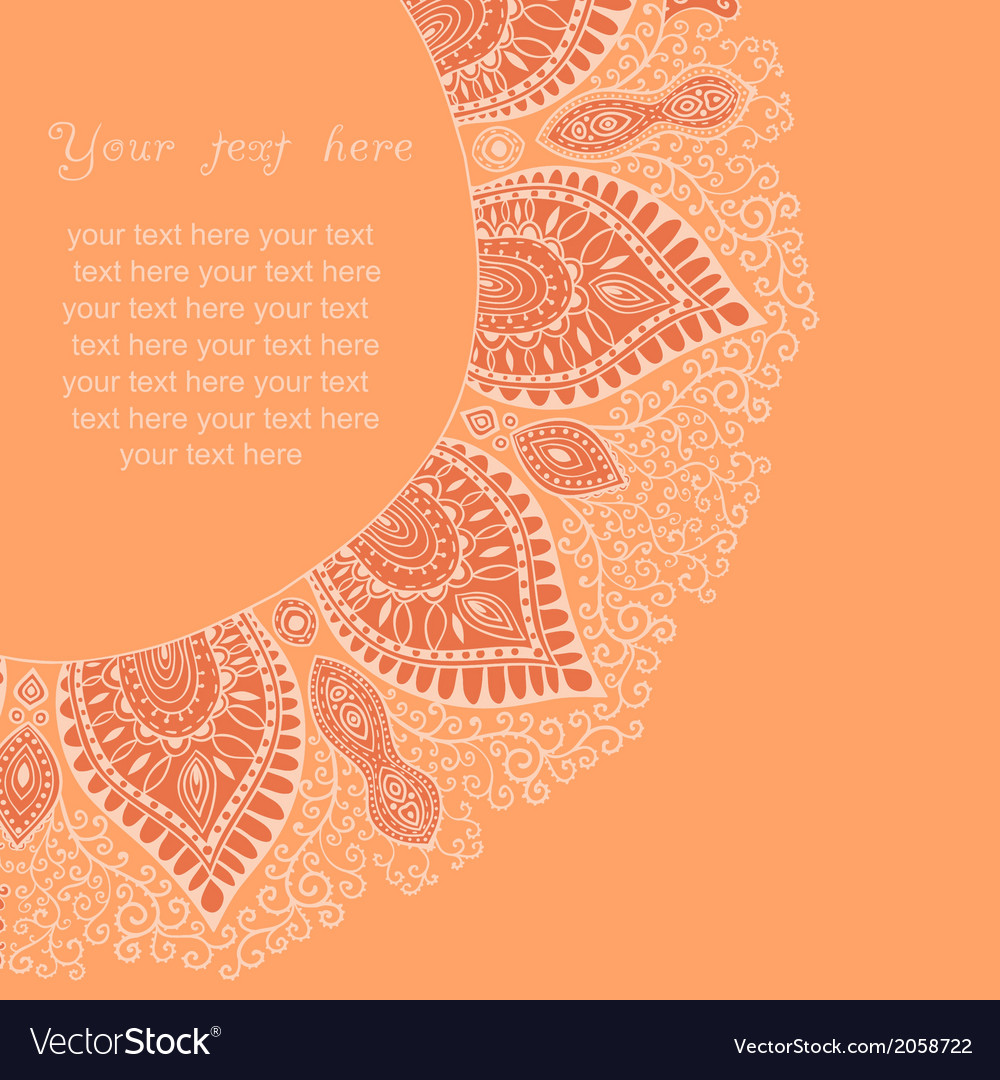 Decorative vintage design element with lacy frame vector | Price: 1 Credit (USD $1)