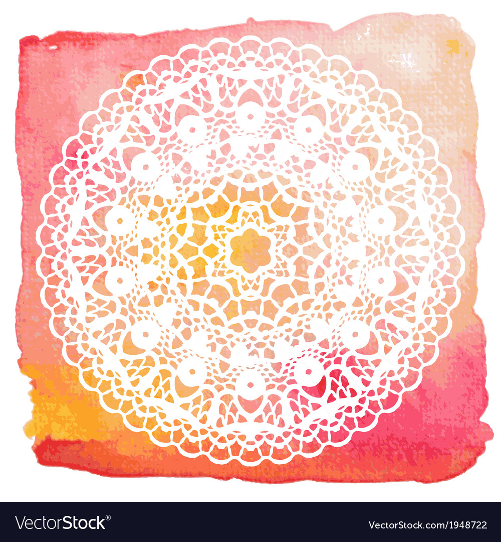 Elegant lacy doily crochet mandala vector | Price: 1 Credit (USD $1)