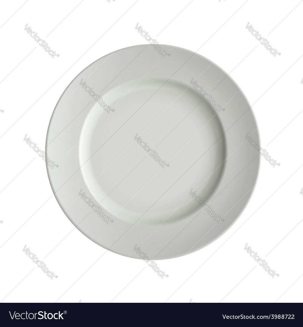 Image porcelain plates vector | Price: 1 Credit (USD $1)