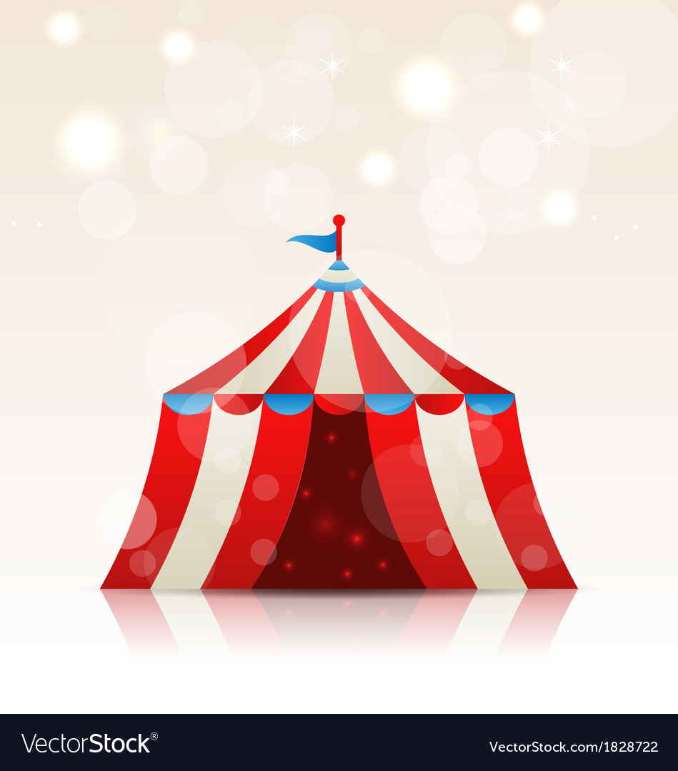 Open circus stripe entertainment tent vector | Price: 1 Credit (USD $1)