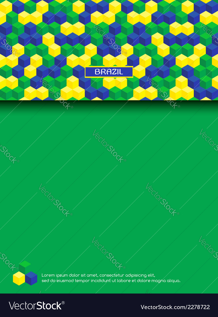 Page with brazilian colors vector | Price: 1 Credit (USD $1)