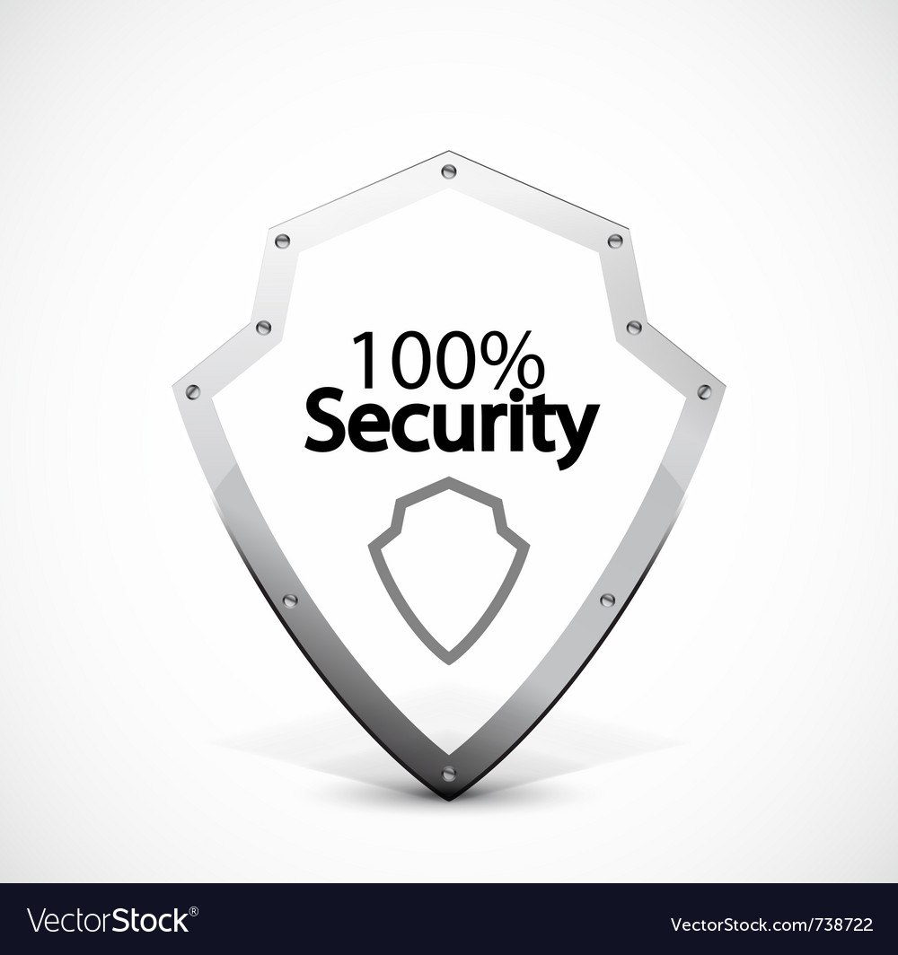 Protected and security icons vector | Price: 1 Credit (USD $1)