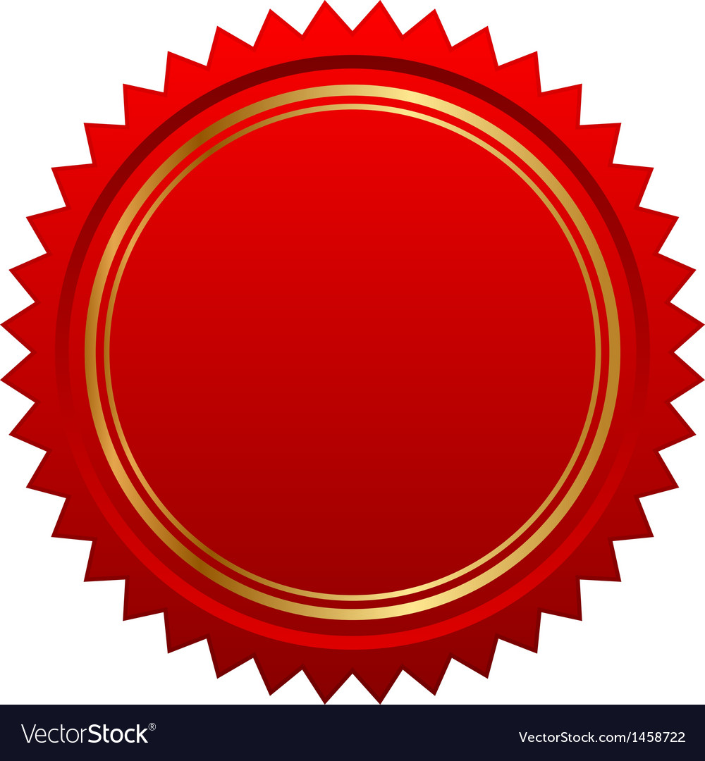 Red seal vector | Price: 1 Credit (USD $1)