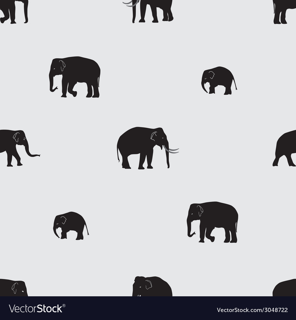Shadow elephants seamless pattern eps10 vector | Price: 1 Credit (USD $1)