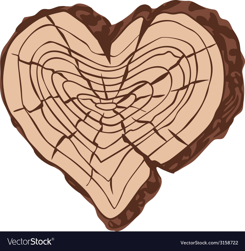 Timber heart vector | Price: 1 Credit (USD $1)