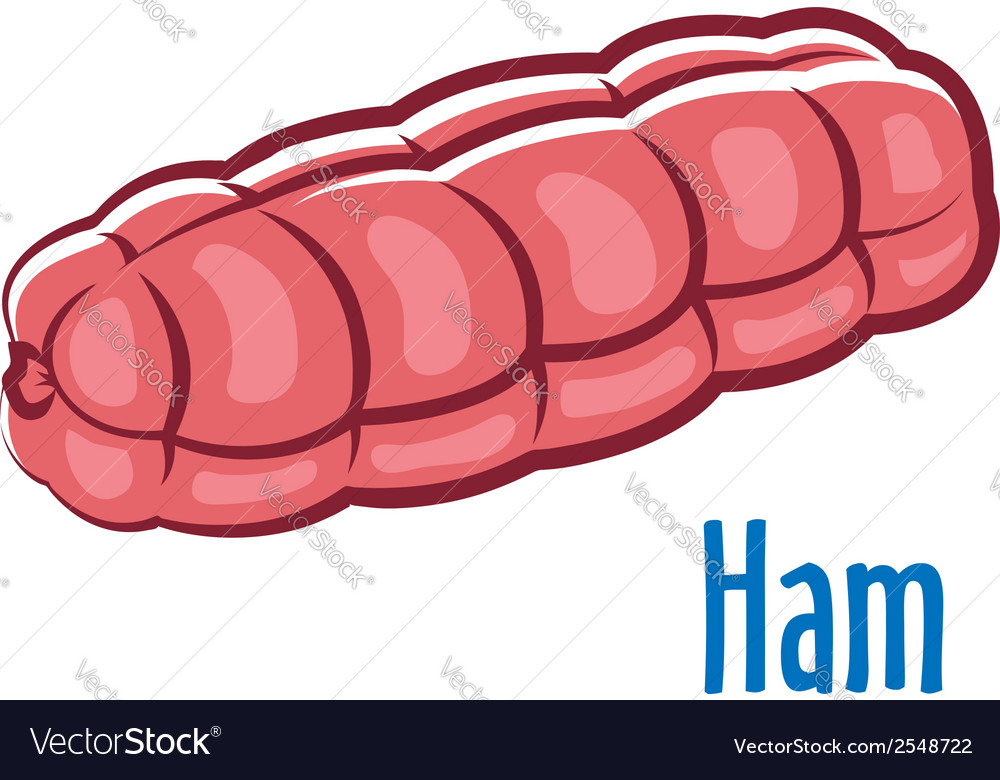 Traditional whole ham vector | Price: 1 Credit (USD $1)