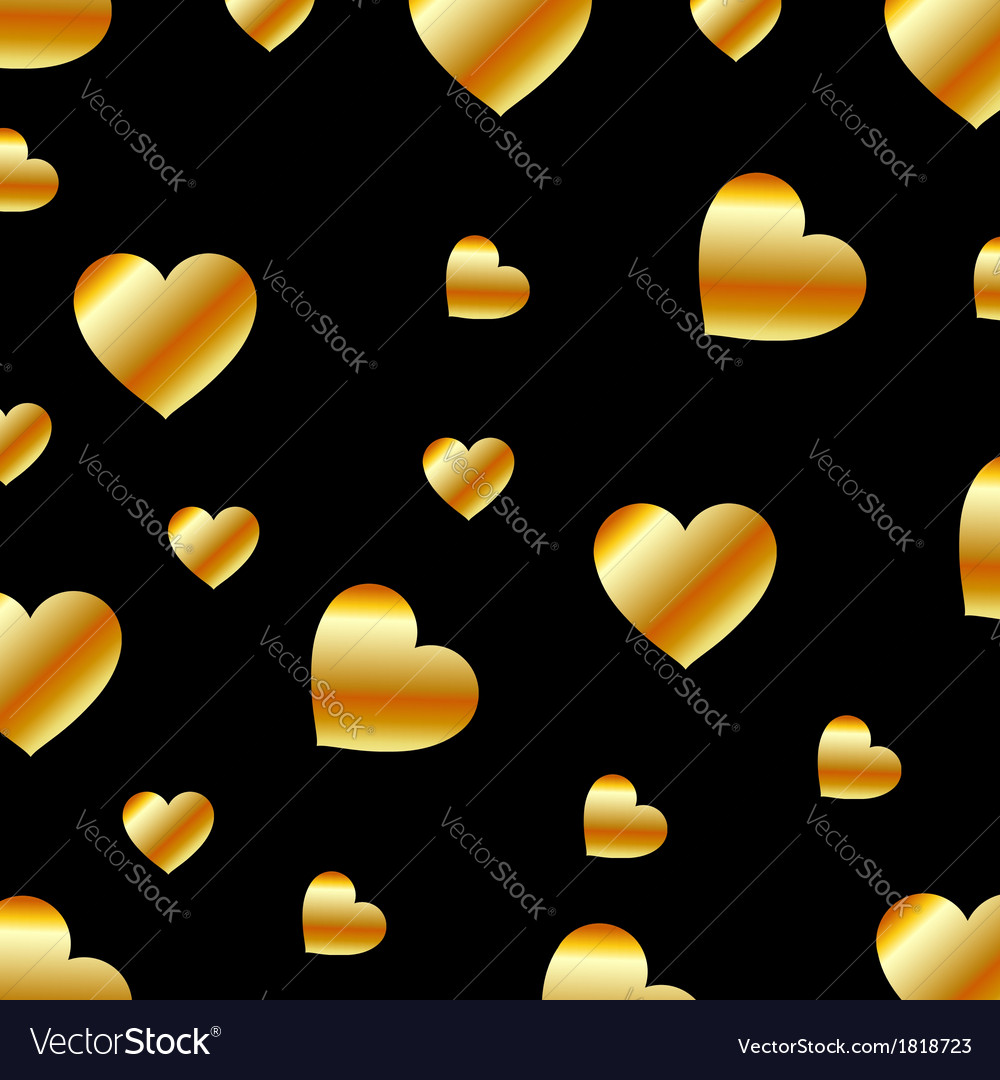 Background with golden hearts vector | Price: 1 Credit (USD $1)