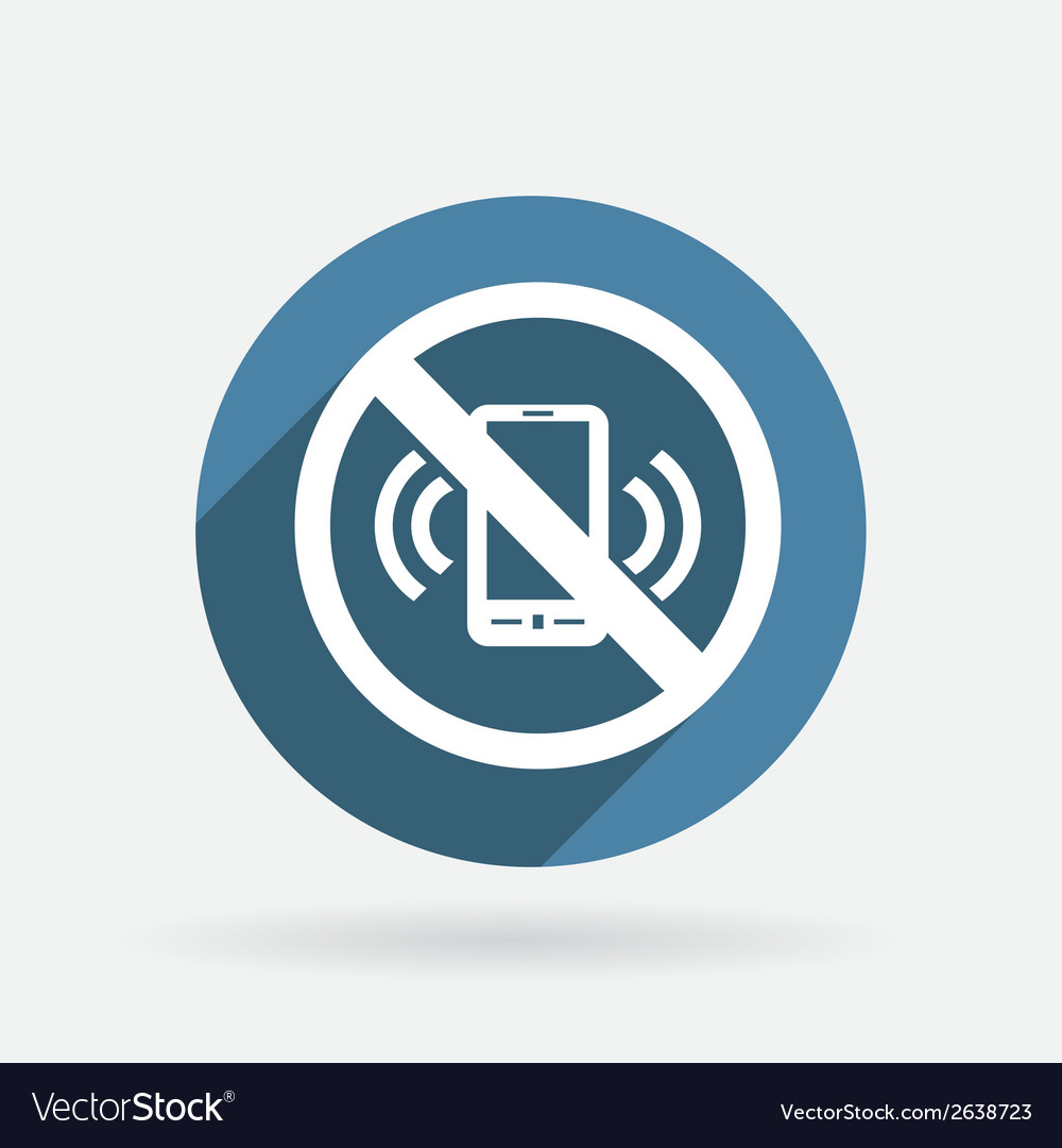 Forbidden to use mobile phone circle blue icon vector | Price: 1 Credit (USD $1)