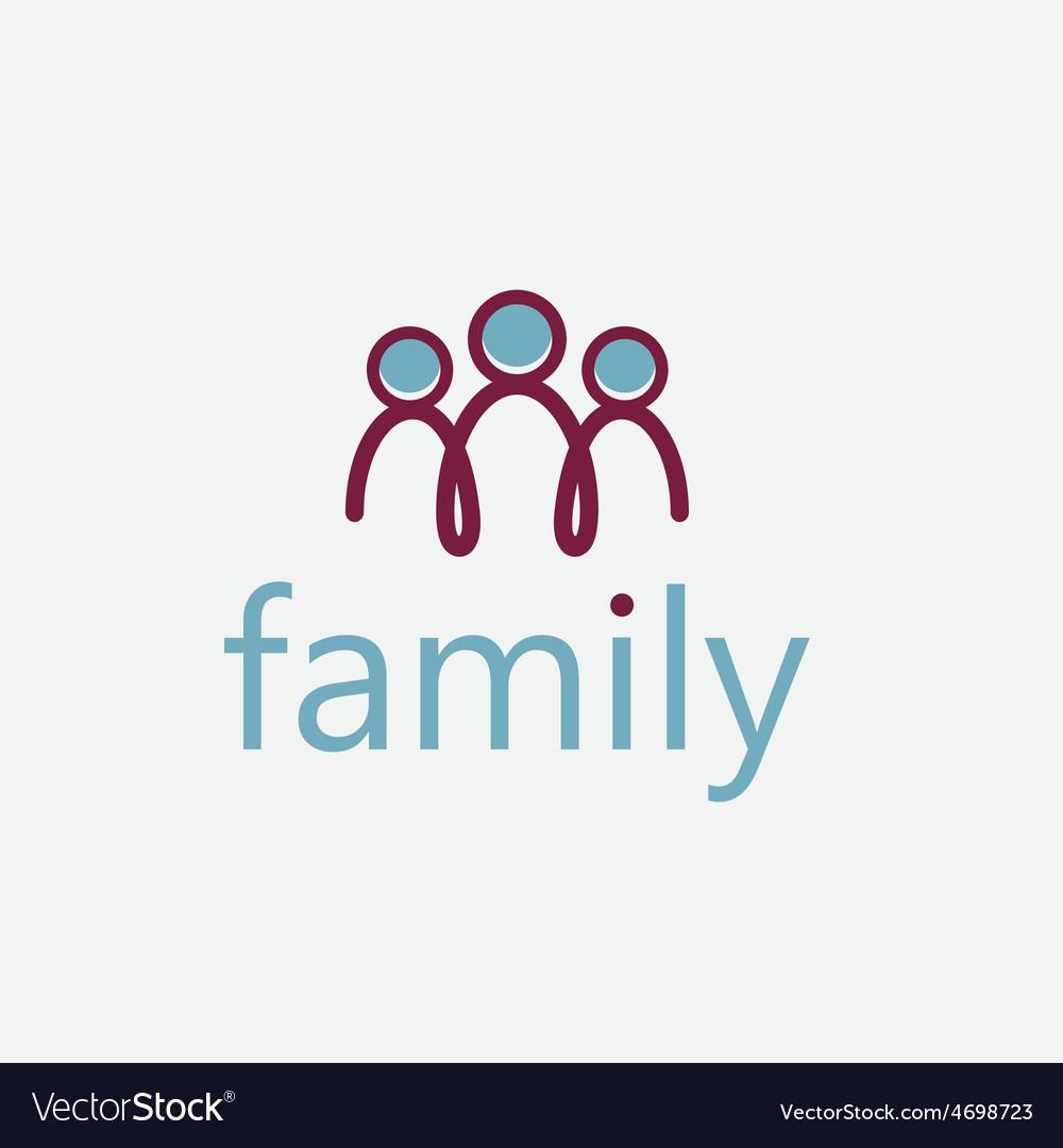 Happy family design template vector | Price: 1 Credit (USD $1)