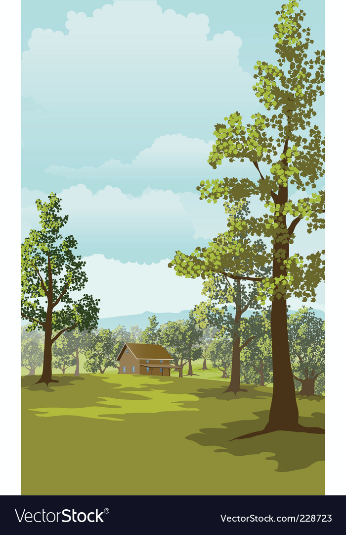 Log cabin vector | Price: 1 Credit (USD $1)