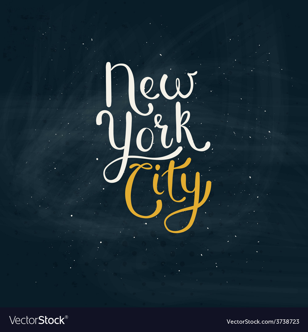 New york city concept on green board vector | Price: 1 Credit (USD $1)
