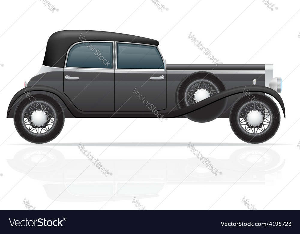 Old retro car 02 vector | Price: 1 Credit (USD $1)