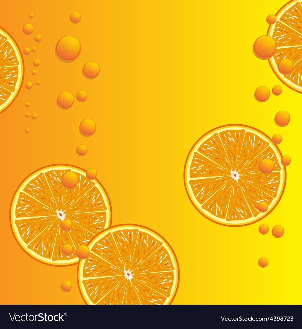 Orange juice background vector | Price: 3 Credit (USD $3)