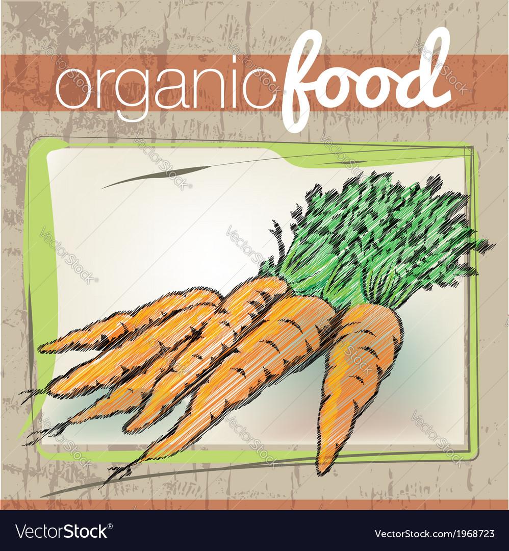 Organic food vector | Price: 1 Credit (USD $1)