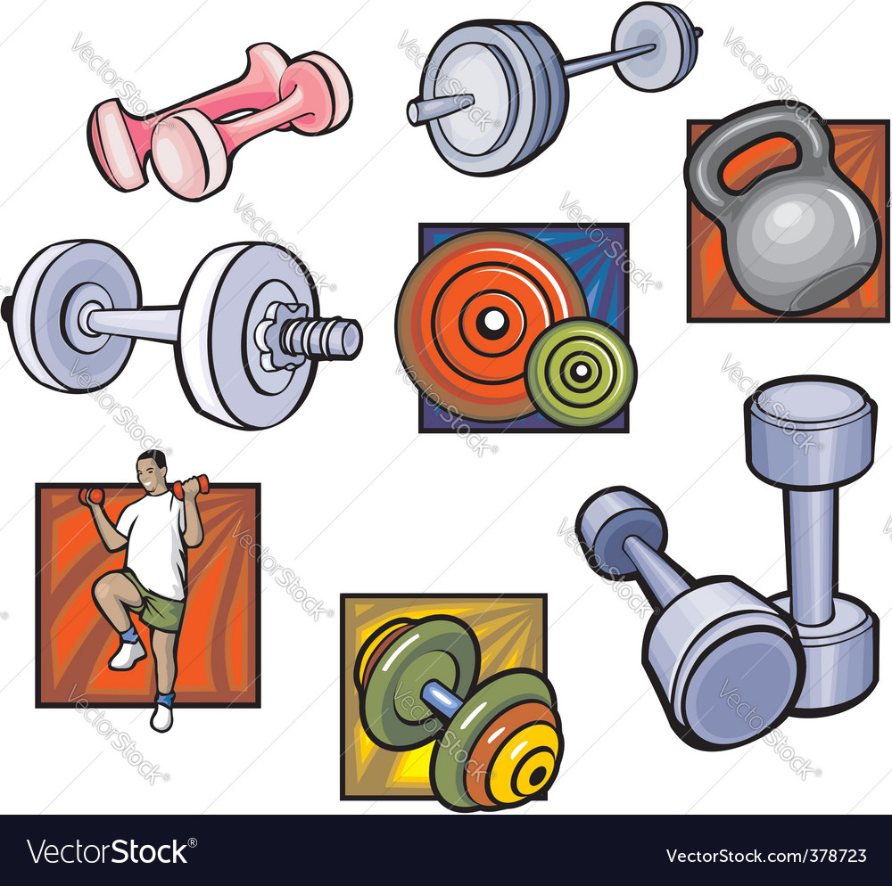 S and dumbbell  vector vector | Price: 1 Credit (USD $1)