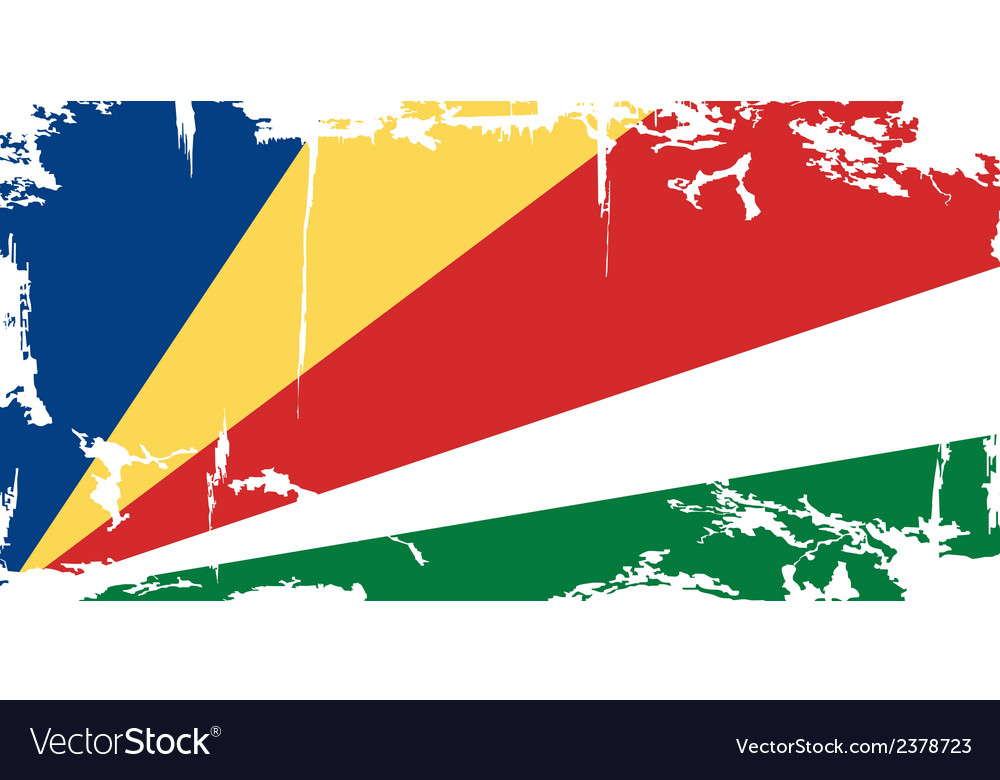 Seychelles grunge flag vector | Price: 1 Credit (USD $1)