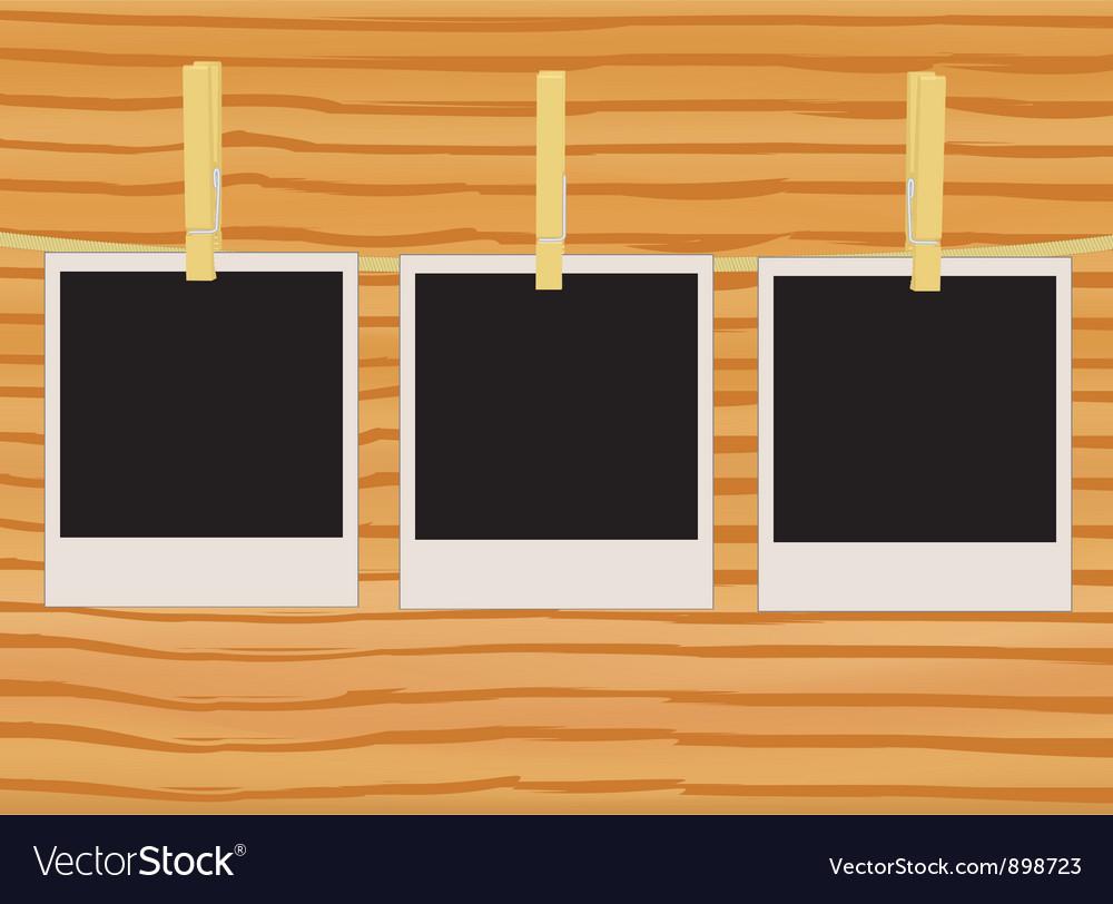 Three photos on rope vector | Price: 1 Credit (USD $1)