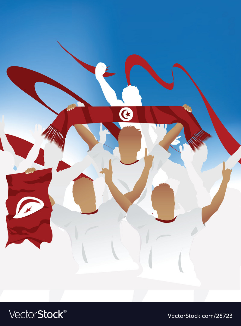 Tunisian crowd vector | Price: 1 Credit (USD $1)