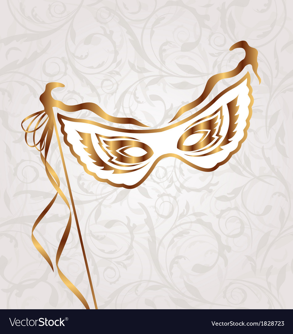 Venetian carnival or theater mask vector | Price: 1 Credit (USD $1)