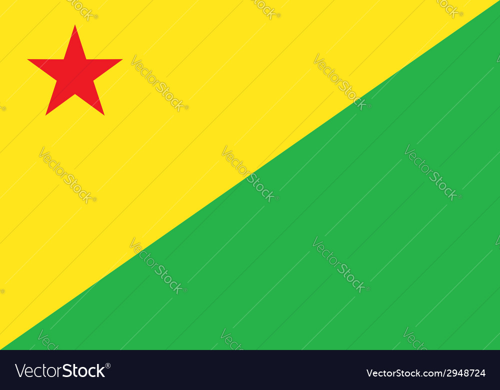 Acre flag vector | Price: 1 Credit (USD $1)