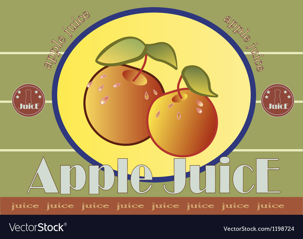 Apple juice label vector | Price: 1 Credit (USD $1)