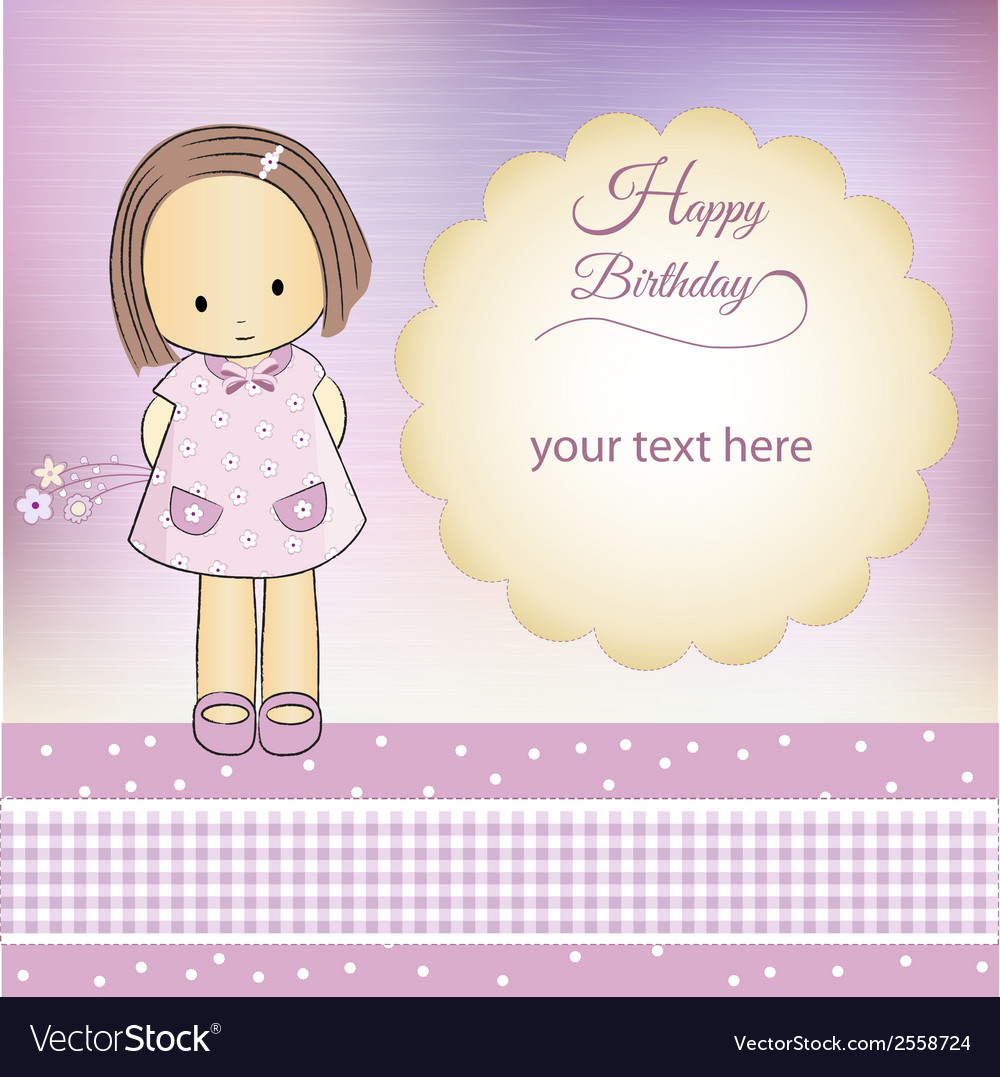 Birthday greeting card vector | Price: 1 Credit (USD $1)