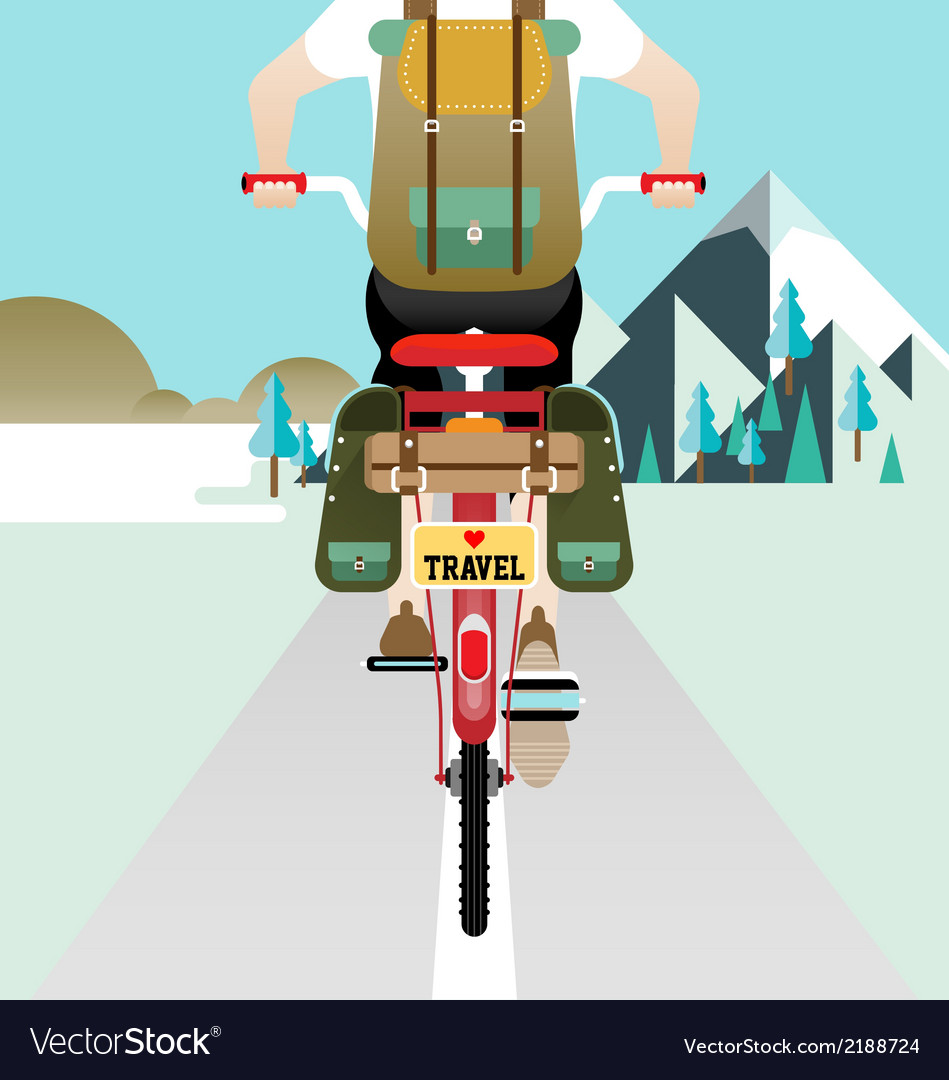 Cyclist riding bicycle vector | Price: 3 Credit (USD $3)