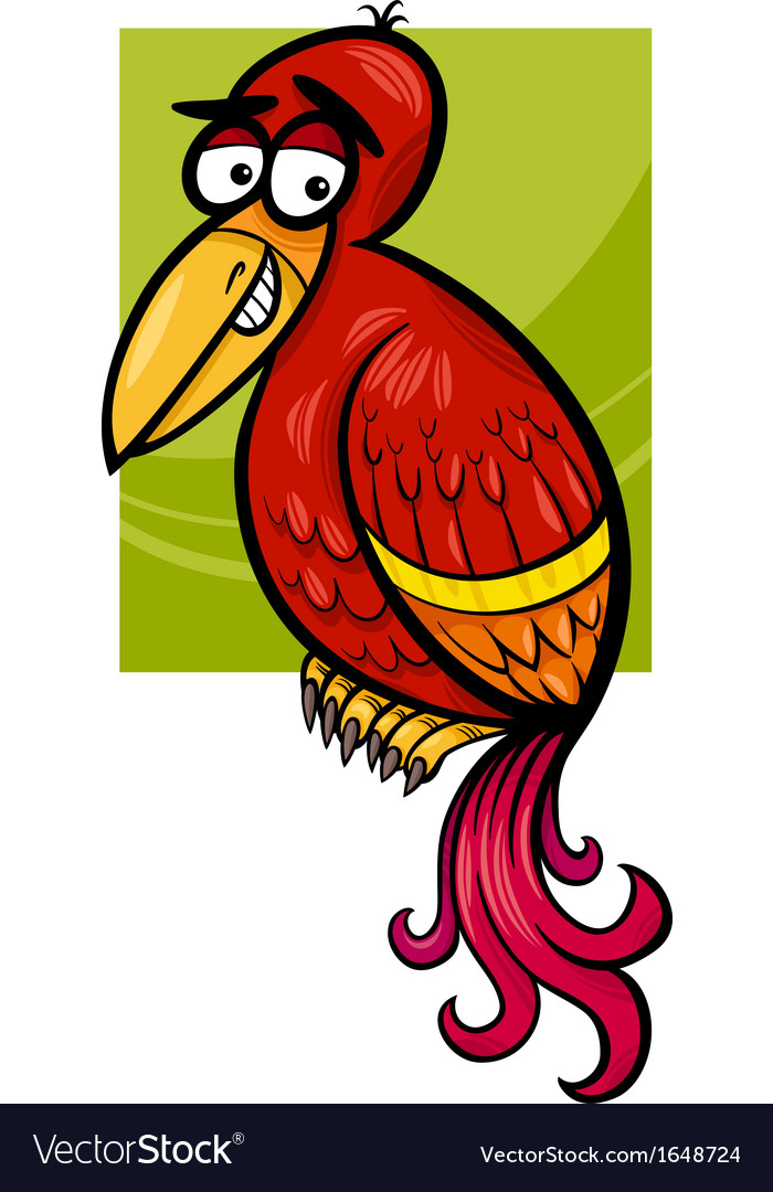 Exotic bird cartoon vector | Price: 1 Credit (USD $1)