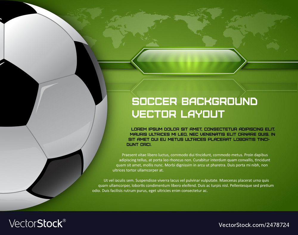 Football world green layout vector | Price: 1 Credit (USD $1)