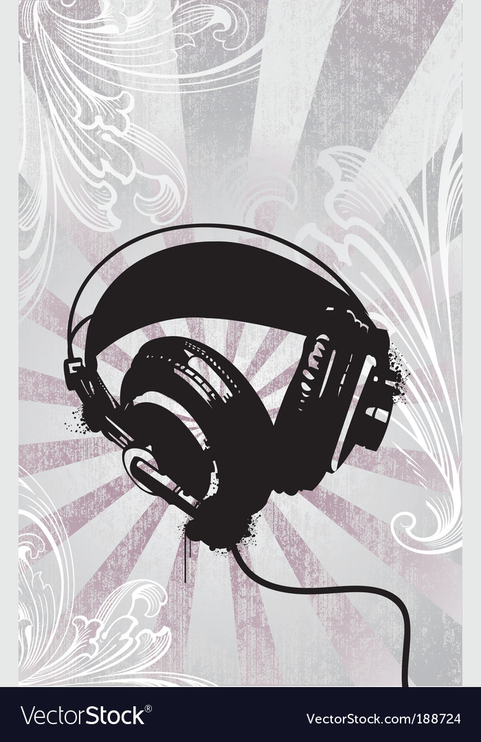 Funky headphones vector | Price: 1 Credit (USD $1)