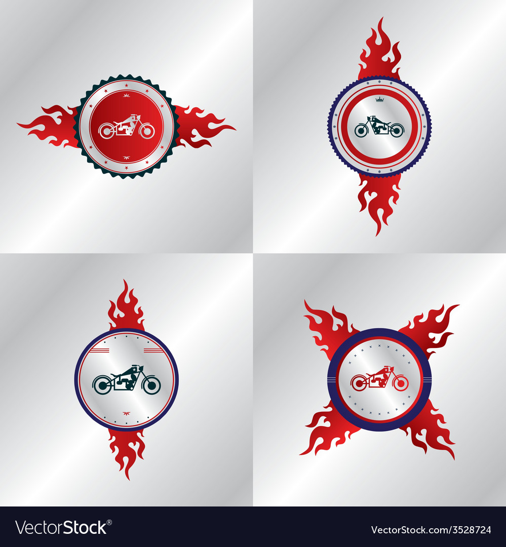 Motorcycle label sticker vector | Price: 1 Credit (USD $1)