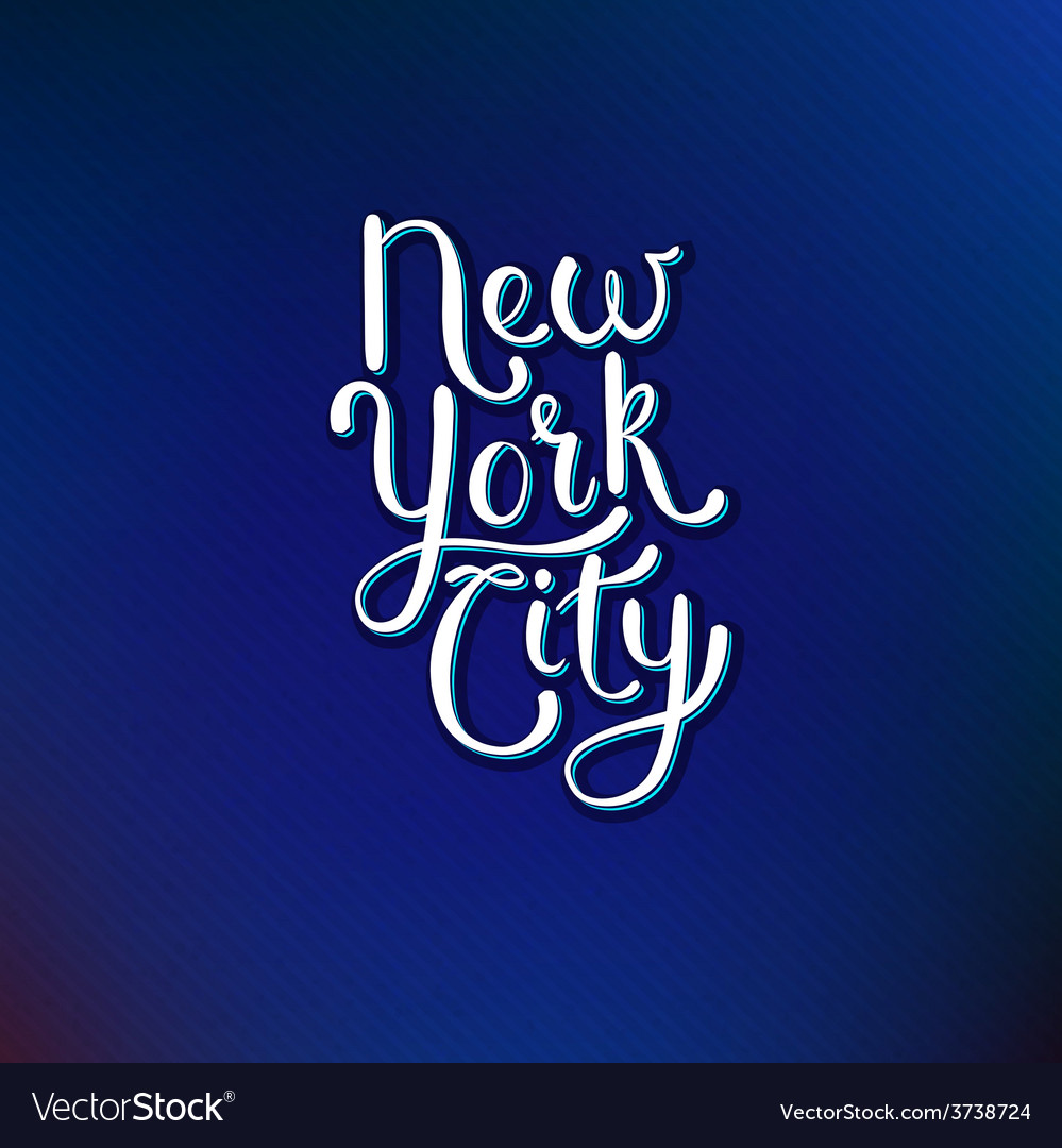 New york city concept on blue violet background vector | Price: 1 Credit (USD $1)