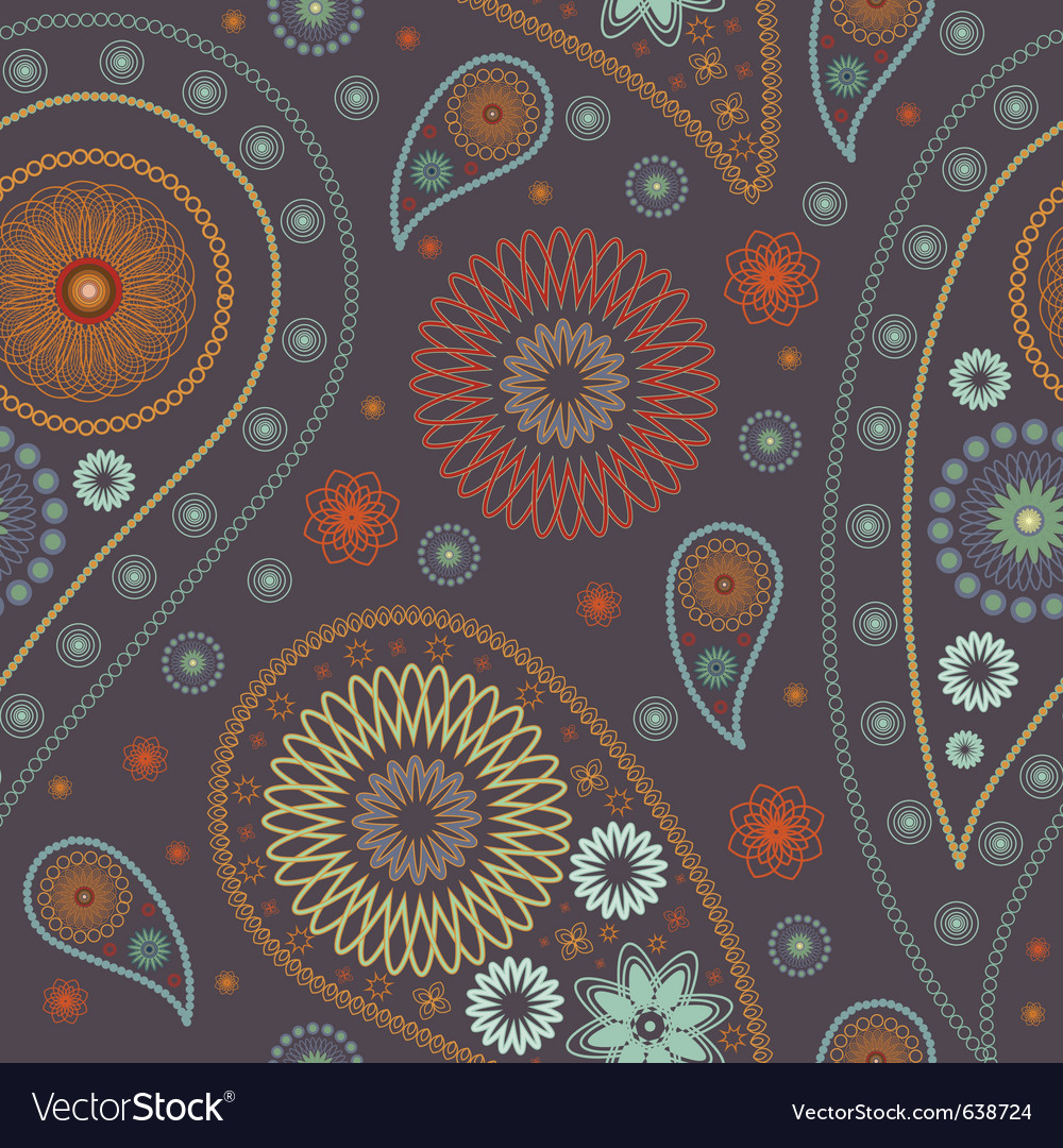 Paisley pattern vector | Price: 1 Credit (USD $1)