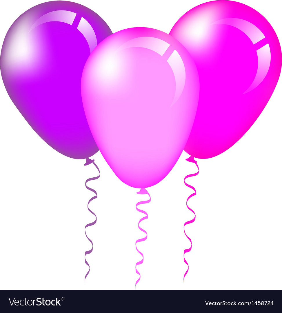Pink and purple balloons vector | Price: 1 Credit (USD $1)