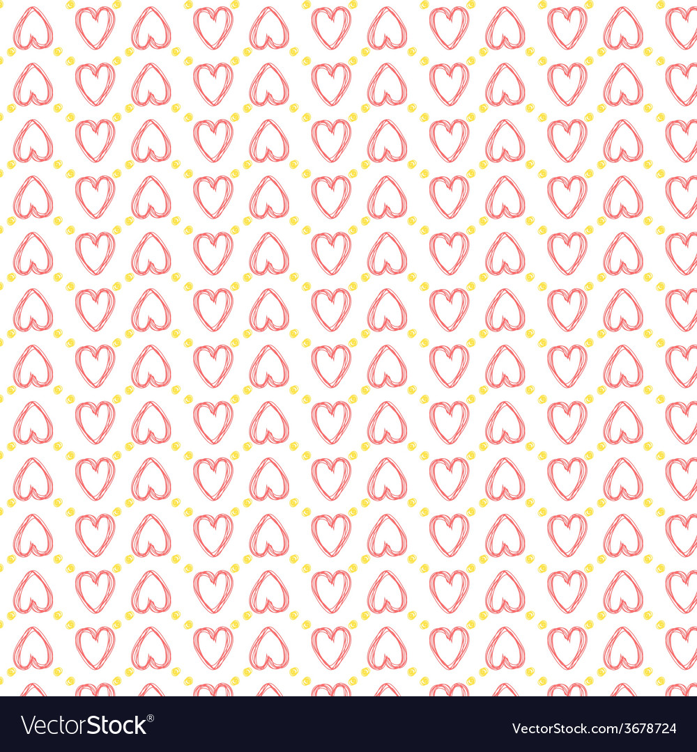 Seamless heart pattern love vector   Price: 1 Credit (USD $1)