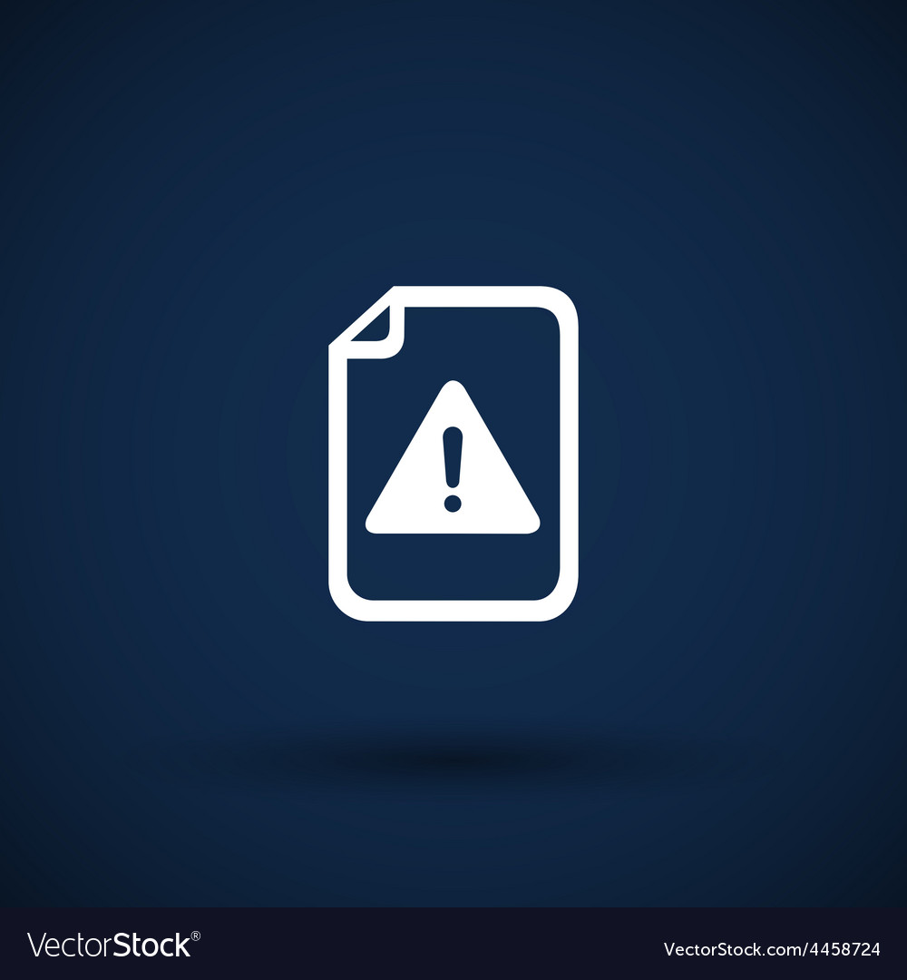 Security warning in browser icon alert bug vector | Price: 1 Credit (USD $1)