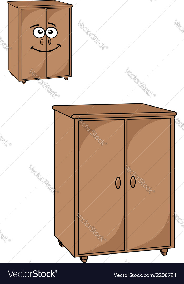 Two wooden cupboards vector | Price: 1 Credit (USD $1)