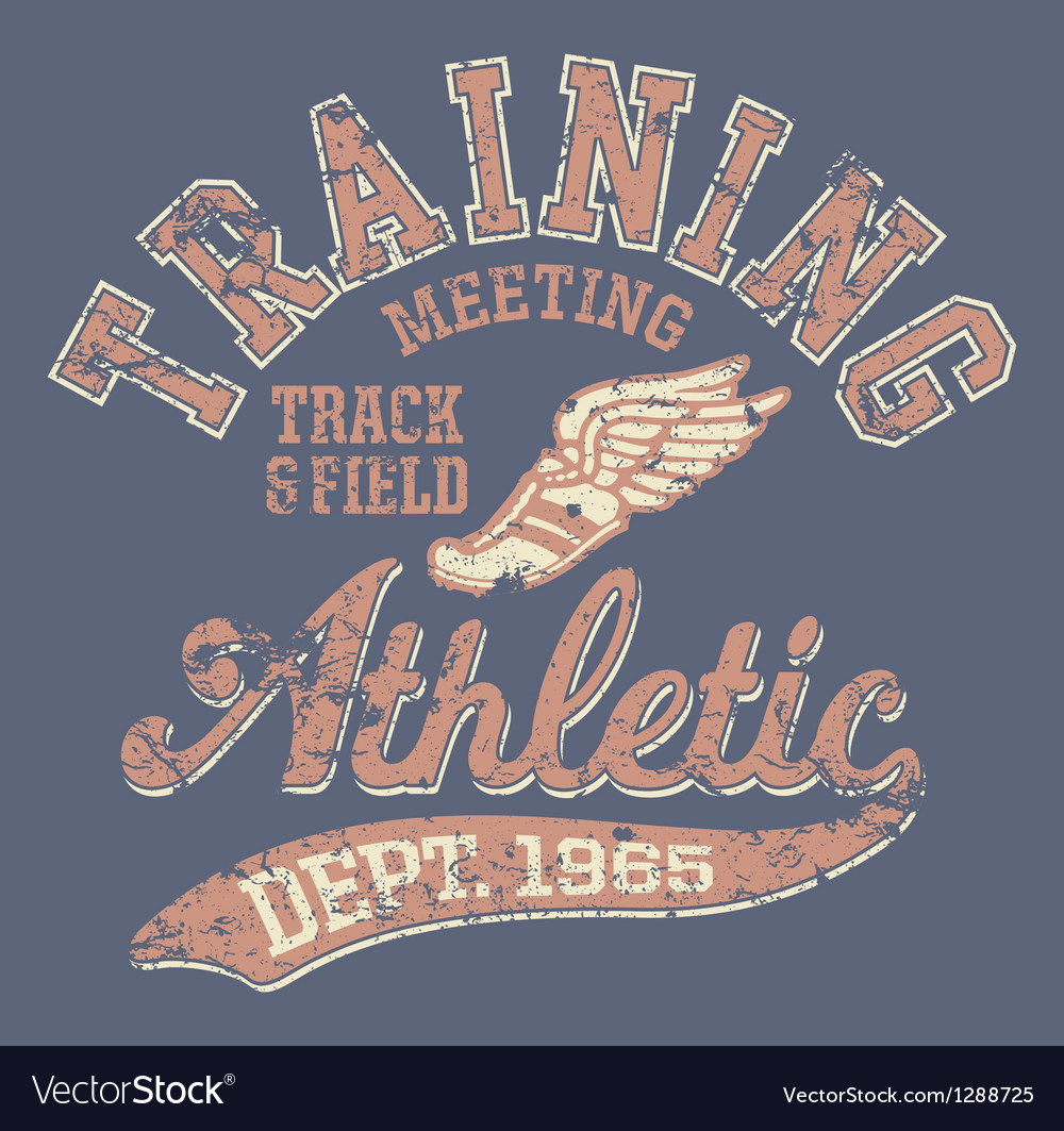 Athletic department vector