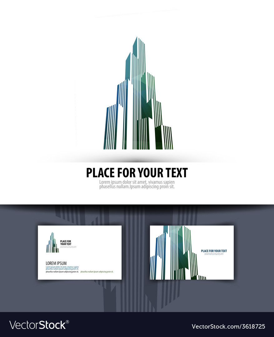 City logo icon emblem template business card vector | Price: 1 Credit (USD $1)