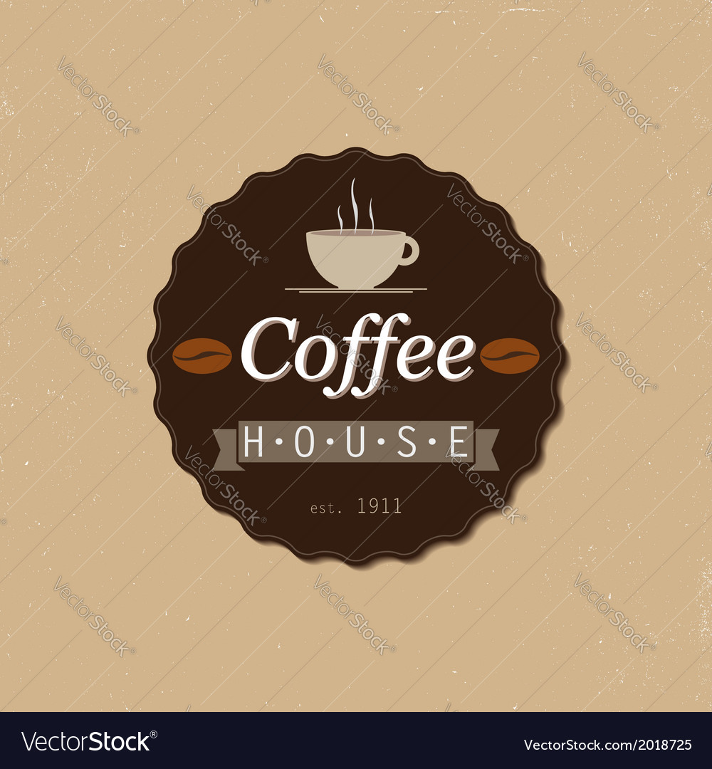 Coffee house badge vector | Price: 1 Credit (USD $1)