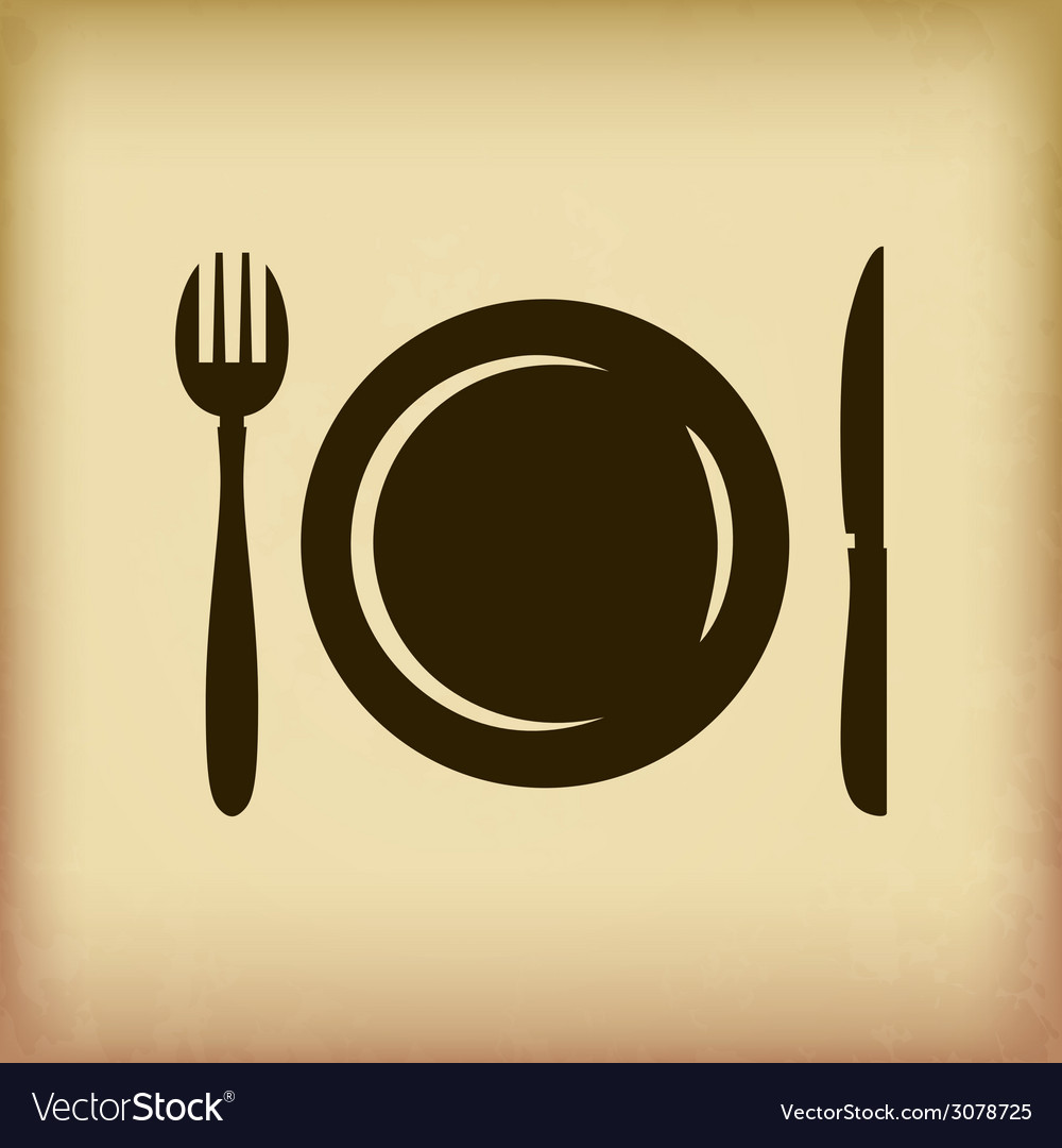 Cutlery symbol vector | Price: 1 Credit (USD $1)