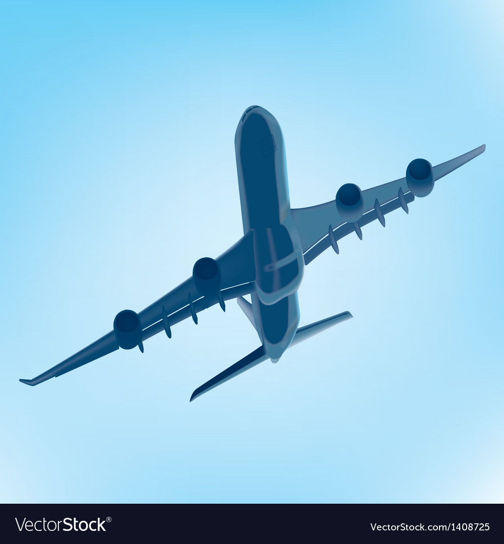 Flying airbus vector | Price: 1 Credit (USD $1)