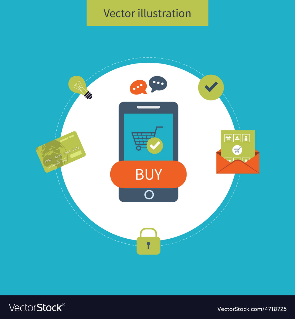 Icons for mobile marketing and security online vector   Price: 1 Credit (USD $1)