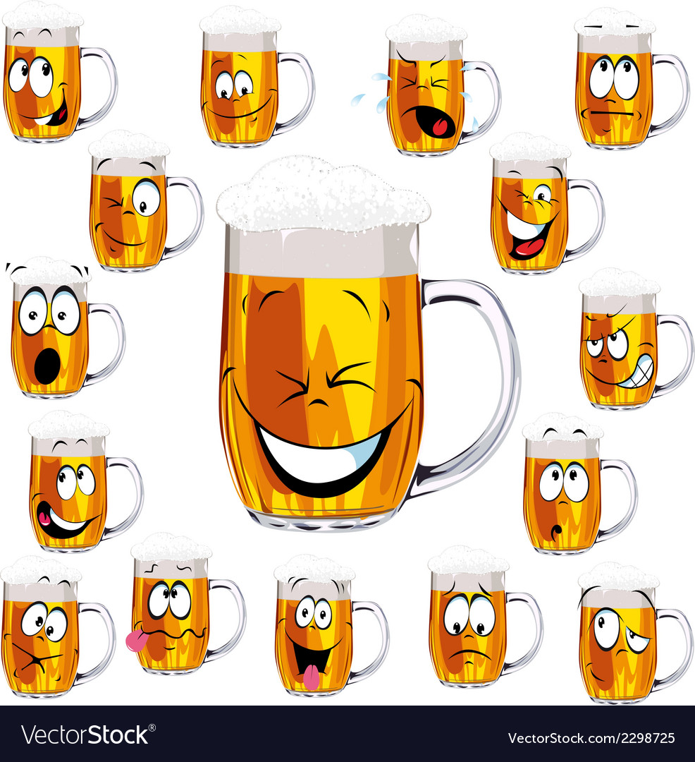 Mug fresh beer cartoon vector | Price: 1 Credit (USD $1)