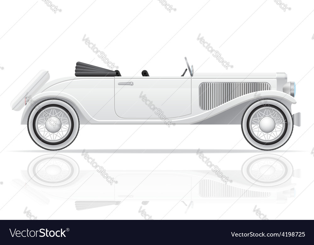 Old retro car 03 vector | Price: 1 Credit (USD $1)