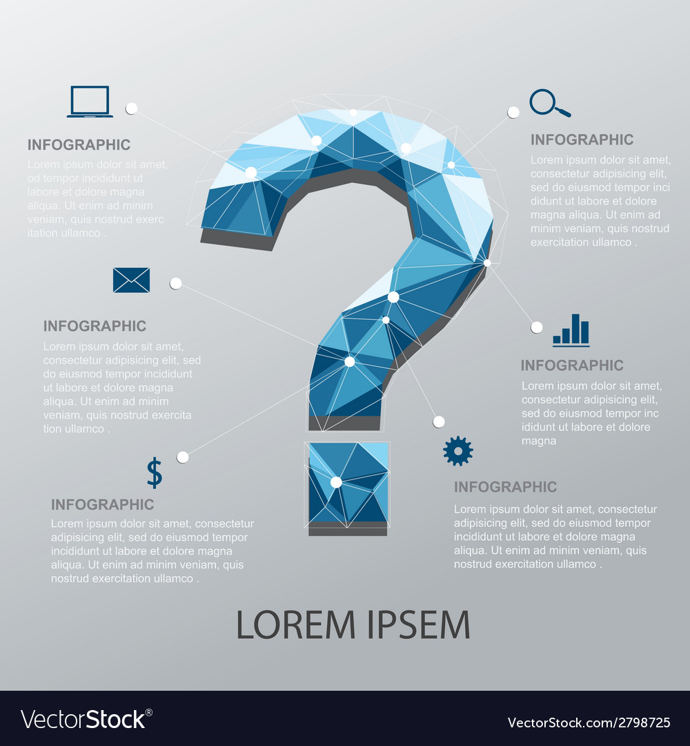Question infographic vector | Price: 1 Credit (USD $1)