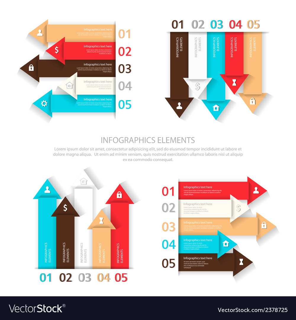 Set of design elements for infographic vector | Price: 1 Credit (USD $1)