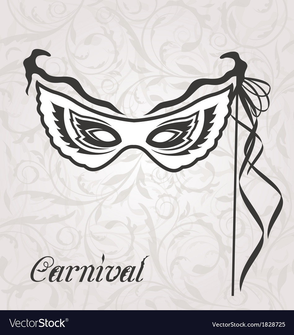 Venetian carnival or theater mask with ribbons vector | Price: 1 Credit (USD $1)