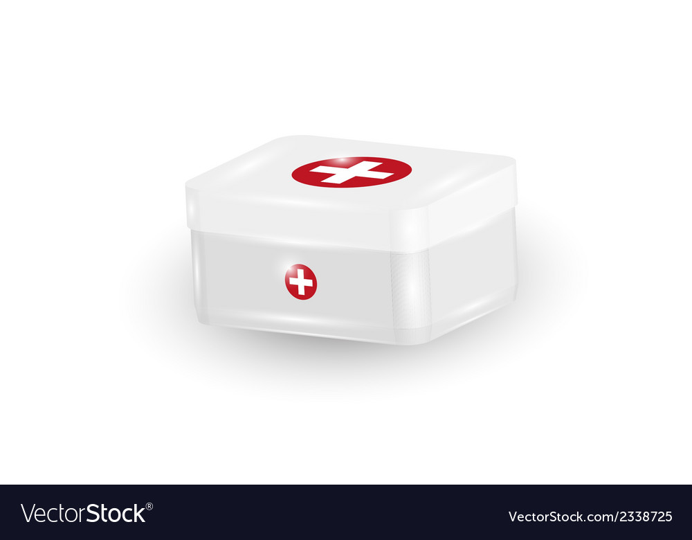 White first aid kit vector | Price: 1 Credit (USD $1)